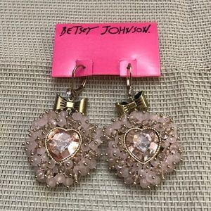Betsey Johnson woven heart